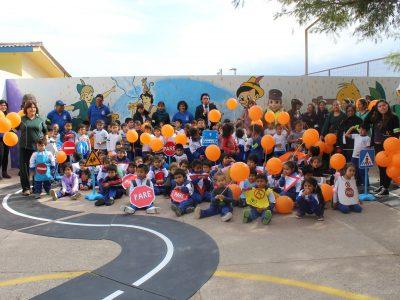 Niños aprendieron sobre las normas de tránsito y seguridad vial en divertida jornada educativa