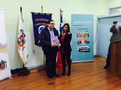 SENDA Araucanía entregó material preventivo a 21 establecimientos de la comuna de Loncoche