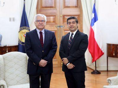 Ministro del Interior y Seguridad Pública se reunió con director de SENDA
