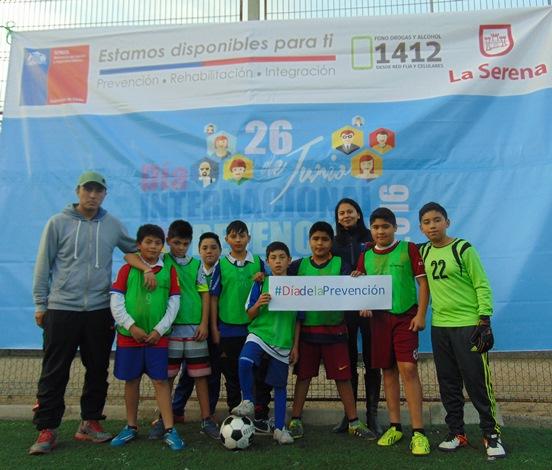 Con torneo de fútbol infantil conmemoran el Día Internacional de la Prevención