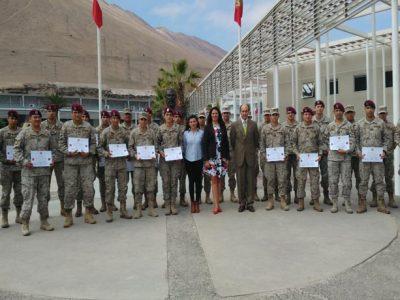 Certifican a veintiséis militares del Ejército de Chile  como monitores preventivos del consumo de drogas