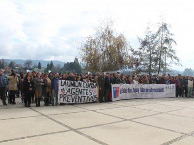 400 agentes preventivos se reunieron en Valdivia para fortalecer su compromiso frente al problema de las drogas