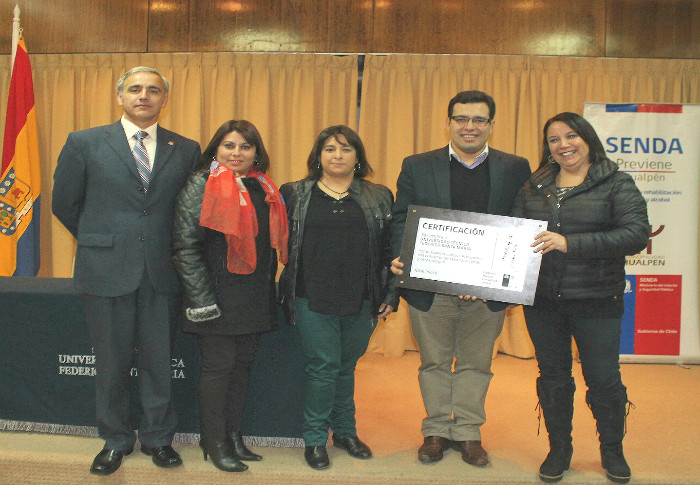 SENDA Biobío certifica a la Universidad Técnica Federico Santa María como espacio laboral preventivo en etapa inicial