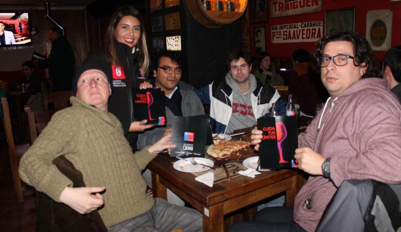 SENDA Araucanía refuerza campaña alcohol en sector de bares y pubs en la comuna de Temuco