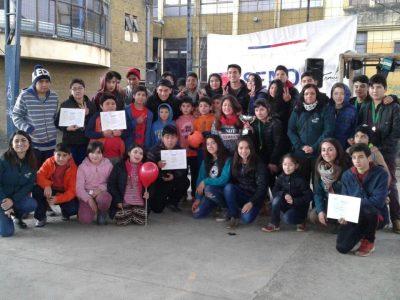 SENDA Previene de Temuco organizó tarde recreativa en Escuela Villa Carolina