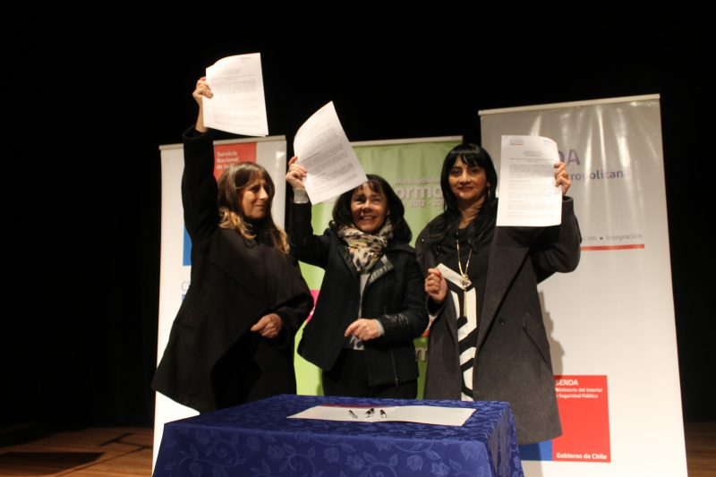 SENDA y SERNAMEG firman acuerdo de colaboración que beneficiará a mujeres víctimas de la violencia