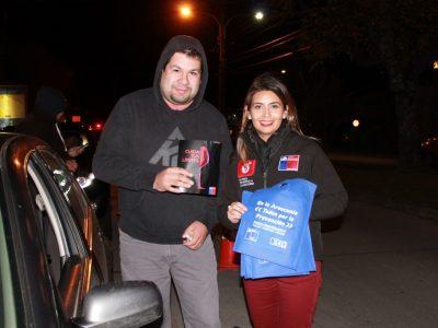 Intenso control cero alcohol realizó SENDA Araucanía en Pucón
