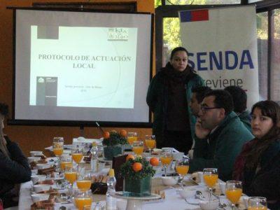 En Isla de Maipo se lanza Protocolo de Actuación Local del Consumo y Microtráfico