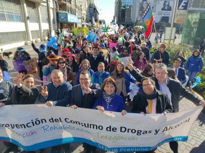 SENDA Biobío convocó a más de 1700 personas en caminata por la prevención