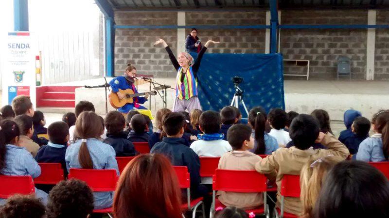 El teatro llega a los niños y niñas de Concón invitándolos a una vida sana