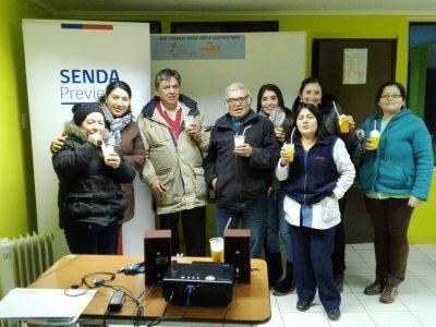 SENDA certifica a agrupación de mujeres de Niebla por trabajo preventivo