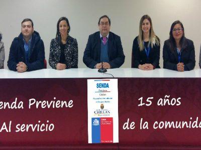 Programa SENDA PREVIENE cumple 15 años de funcionamiento en Chillán