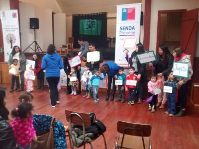 Niños y niñas de la población Irene Daiber de La Unión celebraron Día Internacional de la Prevención