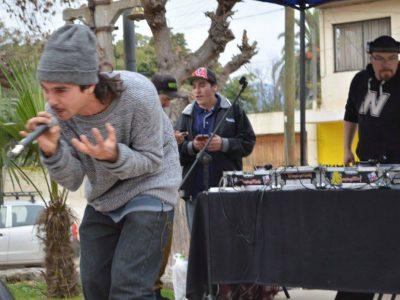 Al ritmo del rap Olmué demuestra que su comunidad es pura solidaridad