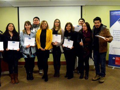 Coordinadores SENDA Previene de la región de Valparaíso cursan diplomado de la Universidad del Desarrollo