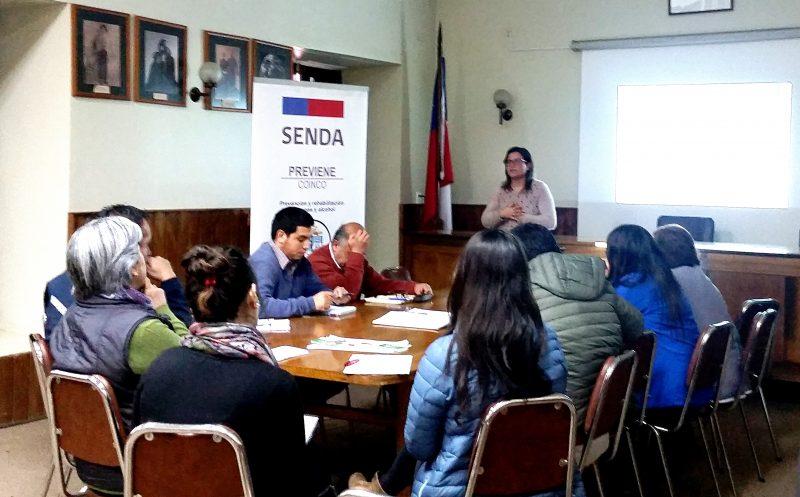 SENDA Coinco, entrega más herramientas a Comisión de Drogas Comunal