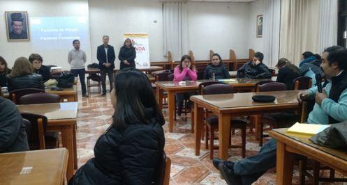 Previene La Cisterna capacita a comunidad de Liceo Salesiano Manuel Arriarán Barros