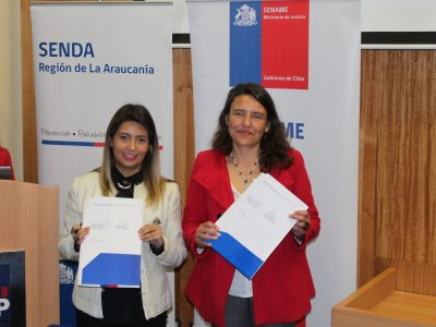 SENDA y SENAME firman protocolo de trabajo en beneficio de  adolescentes infractores de ley en La Araucanía
