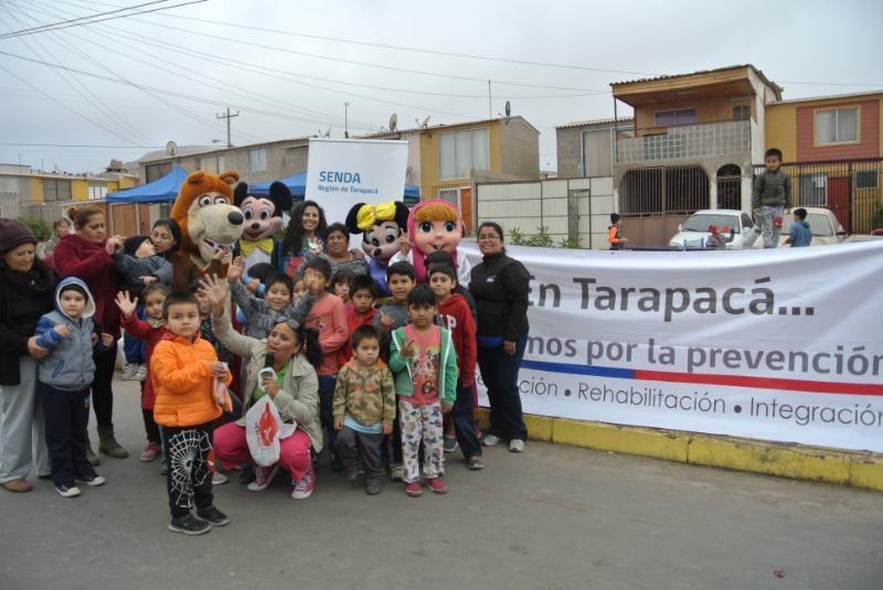 Vecinos de Villa Santa Rosa celebraron Día de la Prevención con diálogos preventivos