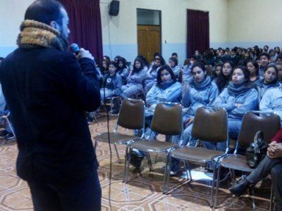 Realizan charla para alumnos del Colegio Santa Marta