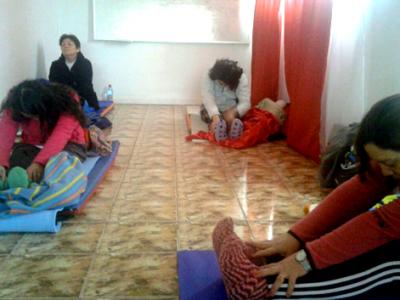 Con yoga se promueve la prevención y una vida sana en Quintero