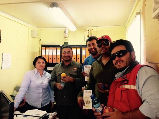 """Trabajadores de la empresa de transportes Ilzauspe implementa el """" Minuto Sano"""" para prevenir consumo de alcohol y otras drogas"""