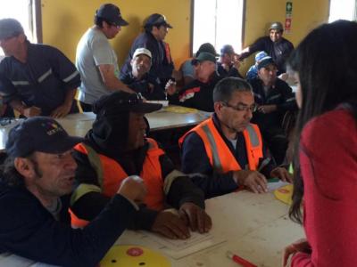 Trabajadores de Villa Alemana acogieron con entusiasmo la tarea de la prevención