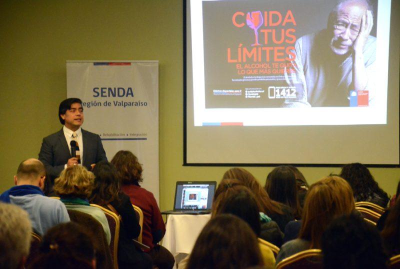Director nacional de SENDA expuso en masivo seminario sobre alcohol realizado en Valparaíso
