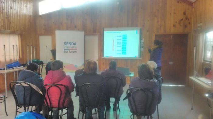 SENDA Previene Los Lagos participó en taller de autocuidado para adultos mayores