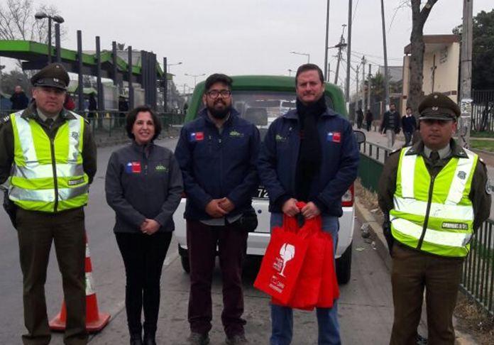 SENDA Previene San Ramón difunde campaña preventiva junto a Carabineros