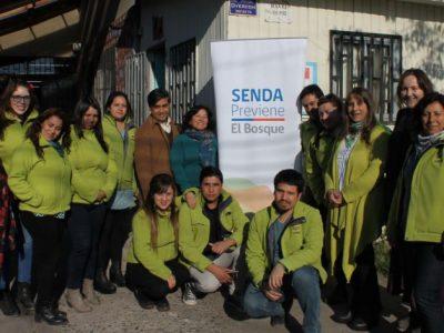 Director nacional conoce el trabajo de SENDA en la comuna de El Bosque