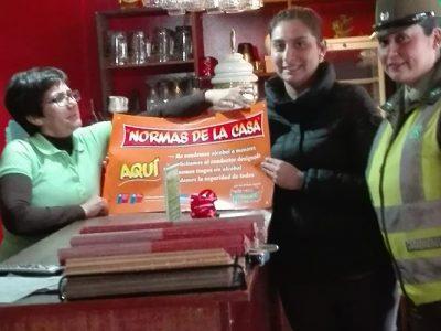 SENDA Previene Los Lagos difundió campaña preventiva junto a Carabineros