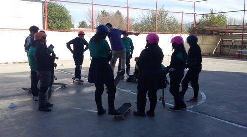 SENDA Previene Talagante comienza escuela itinerante de skate