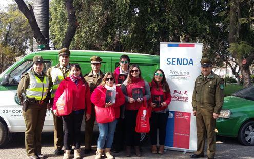 SENDA Previene Talagante y Carabineros difunde campaña «Este 18 Cuida tus límites»