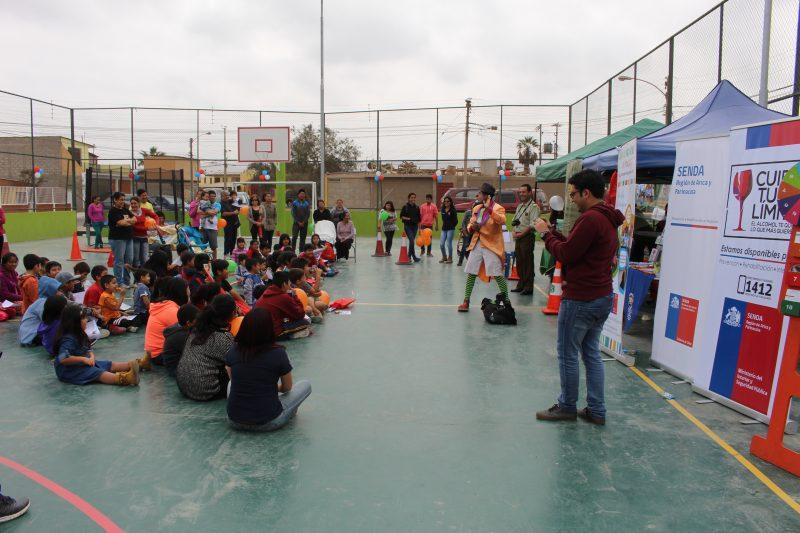 Senda Previene Arica realiza Feria Preventiva en Población Olivarera de Azapa