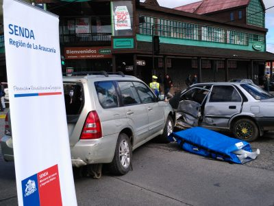 Violento accidente de tránsito fue simulado en pleno centro de Villarrica