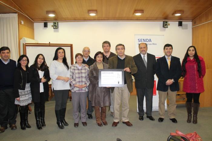 SENDA Los Ríos certificó a Universidad Austral de Chile por promover la prevención entre sus trabajadores