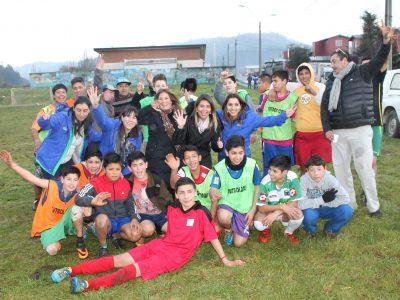 Vibrante campeonato de fútbol calle preventivo en Padre Las Casas
