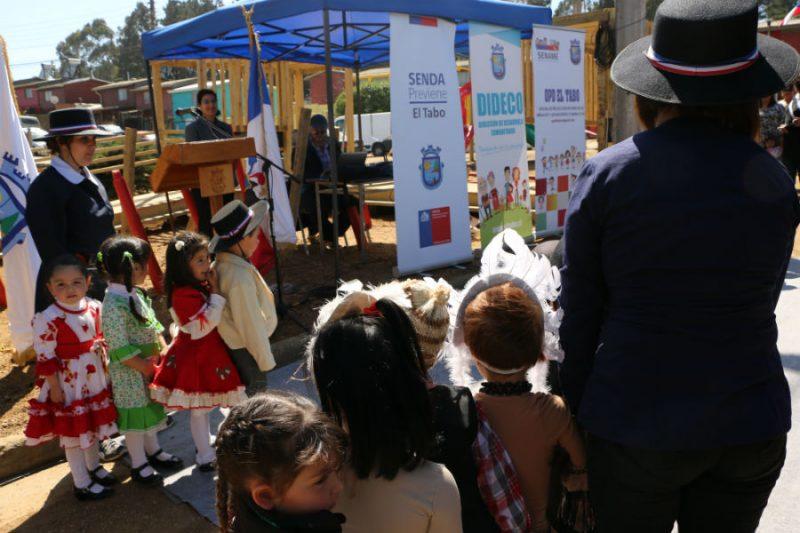 La Prevención también celebra inauguración de plaza patria vieja en El Tabo