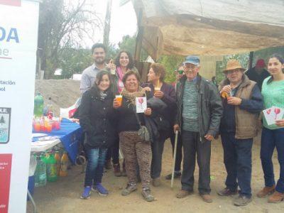 Gran aceptación causó stand de tragos sin alcohol de SENDA Previene Quillón-Ránquil
