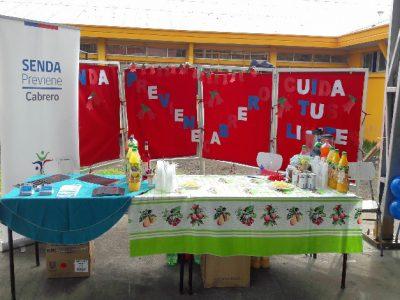 SENDA previene Cabrero celebró las Fiestas Patrias con los estudiantes