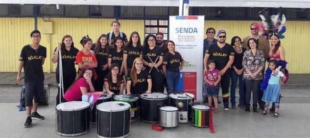 SENDA Previene San Ramón organiza entretenidas clínicas con batucadas