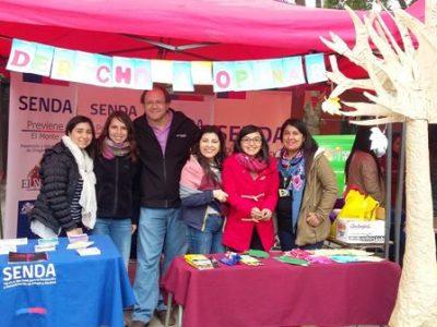 SENDA Previene de la provincia de Talagante participan de «Feria de la Niñez»