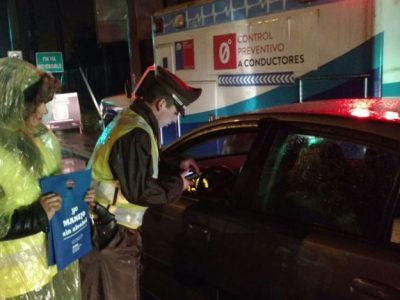 Refuerzan controles preventivos a conductores en estas Fiestas Patrias