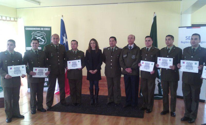 Carabineros de la Provincia de Osorno se certifican en prevención y rehabilitación de consumo de drogas y alcohol