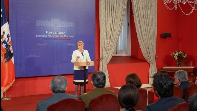 Presidenta Bachelet anunció el plan de acción para la protección de la infancia vulnerada