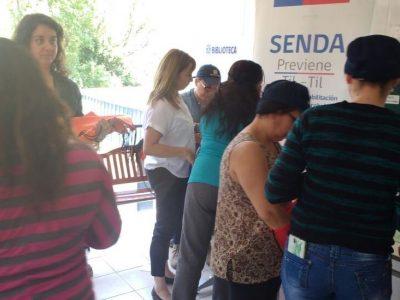 SENDA Previene Tiltil trabaja junto a empresa Agricom