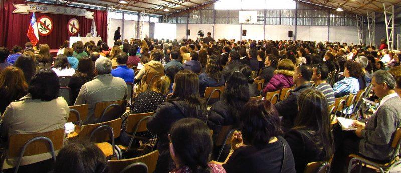 SENDA Biobío dictó charla a más de 500 apoderados de la Corporación de Estudio de la Cámara de la Producción y del Comercio de Concepción