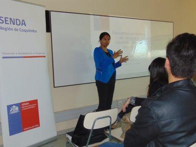 Organizan charla sobre prevención de drogas para alumnos de Inacap