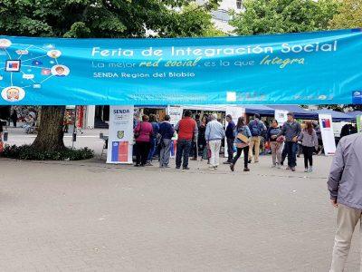 3ª Feria de Integración Social de SENDA Biobío reúne a públicos, privados y emprendedores para exponer el trabajo a la comunidad